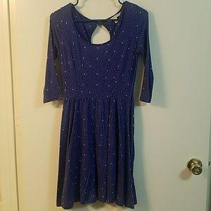 LC blue heart pattern dress